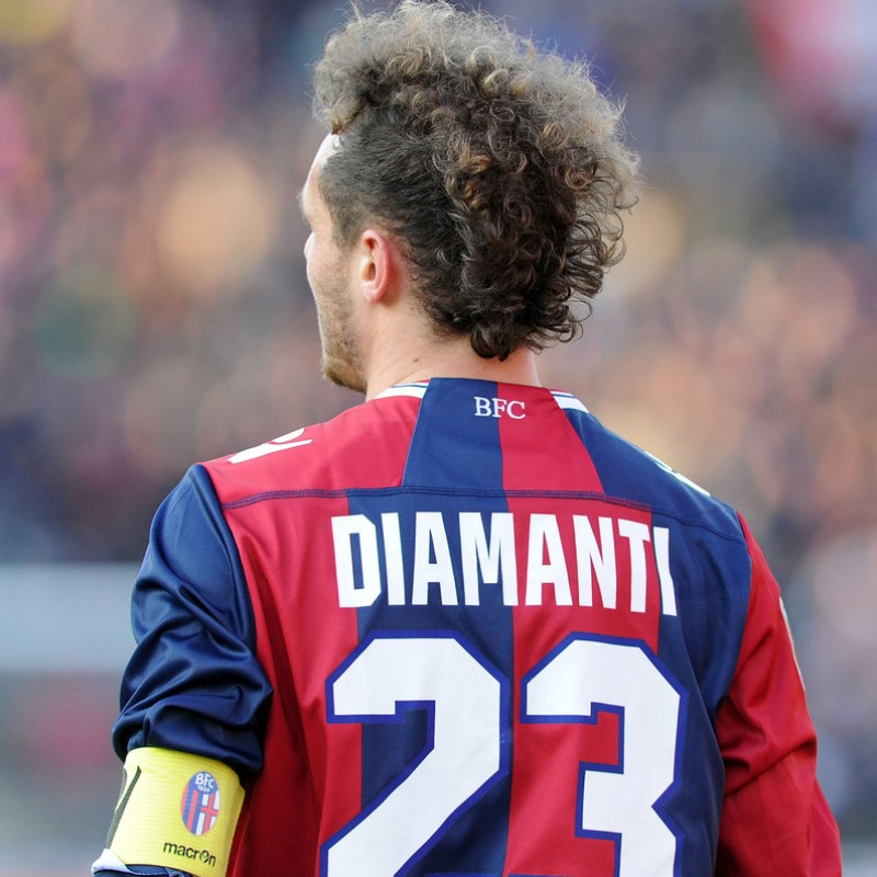 Diamanti's Signed Match-Issued/Worn Bologna Shirt, Serie A 2012/13