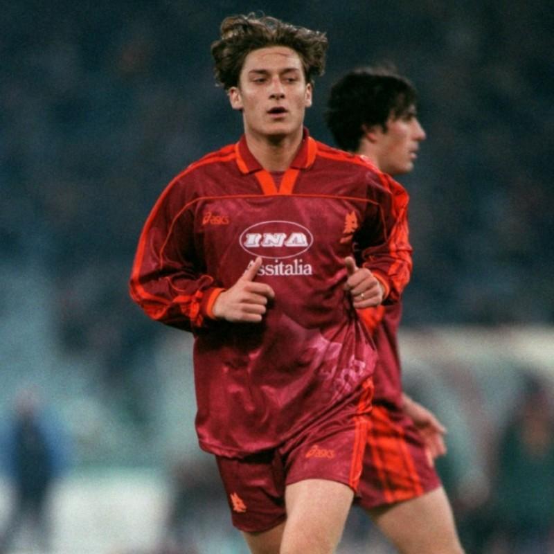 Totti's Roma Match Signed Shirt, 1995/96