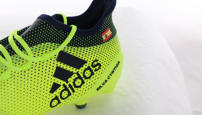 Manchester City's David Silva Player Issued Left Boot