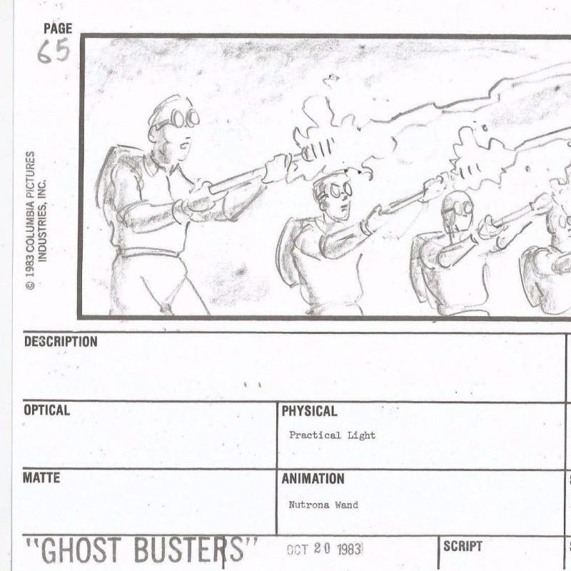 Ghostbusters Storyboard 1983