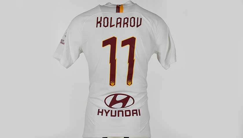 "Kolarov's Match-Issued Shirt, Roma-Parma - ""Grazie Maestro"""