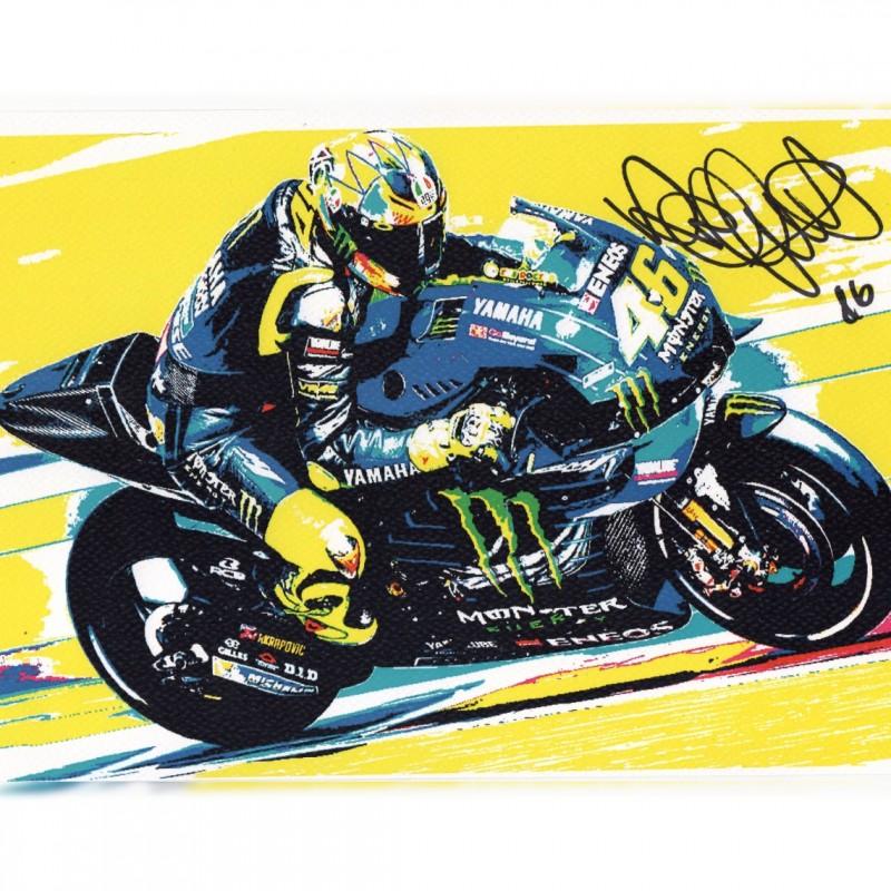 Valentino Rossi - Signed Pop Artwork by Gabriele Salvatore