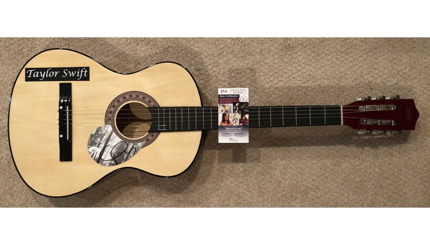 Taylor Swift Hand Signed Guitar