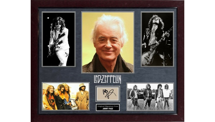 "Jimmy Page ""Led Zeppelin"" Hand Signed, Custom Framed Display"