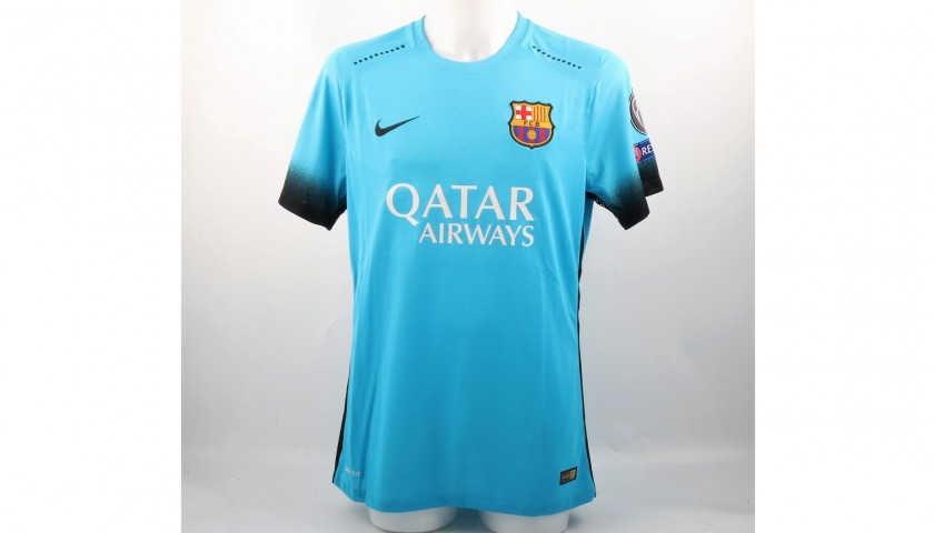 outlet store 8a608 cc938 Messi Barcelona Match issued / worn Shirt, UCL 2015/16 - CharityStars