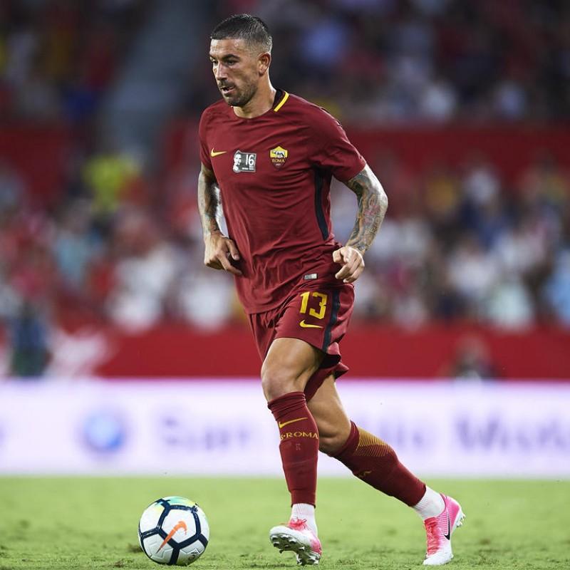 Kolarov's Official Roma Signed Shirt, Totti Last Match