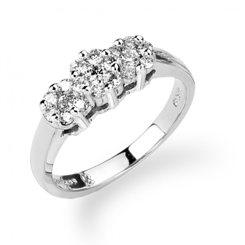 14KT White Gold 3/4 Carat Diamond Ring