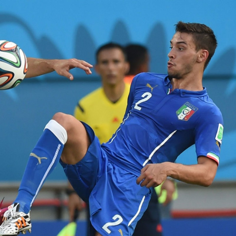 De Sciglio's Italy Match Shirt, 2014 World Cup