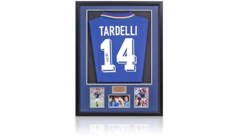 Marco Tardelli Hand-Signed Italian Football Shirt Presentation
