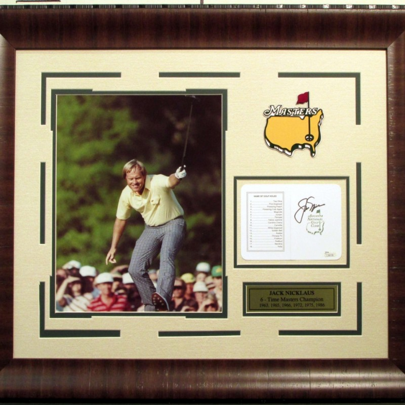 Jack Nicklaus Hand Signed Masters Photograph