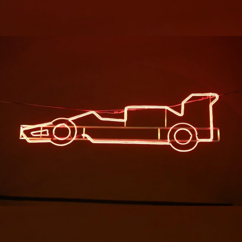 F1 Car Silhouette - Streetlight by Ayrton Senna