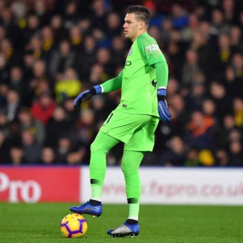 Ederson's Manchester City Match Shorts, Premier League 2018/19