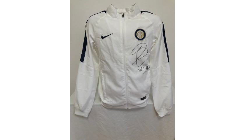 Official Inter Track Jacket Signed by Cambiasso