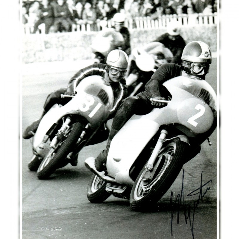 Photograph Signed by Giacomo Agostini