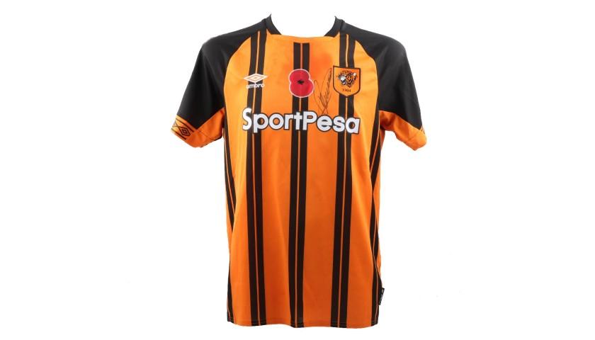 Burke s Hull City Worn and Signed Poppy Shirt - CharityStars 04f4ba2a4