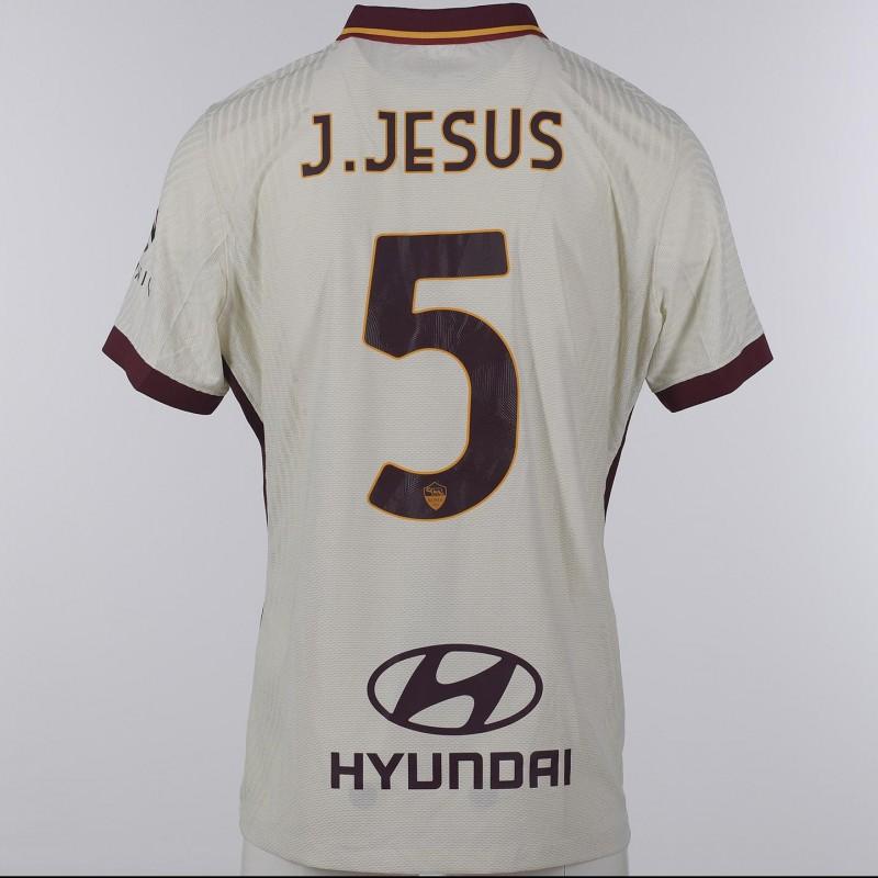 Juan Jesus's Match-Issued Shirt, Genoa-Roma 20/21 - Tribute to Gigi Proietti