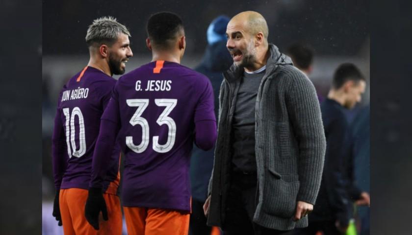 Jesus' Manchester City Match Shorts, Champions League 2018/19