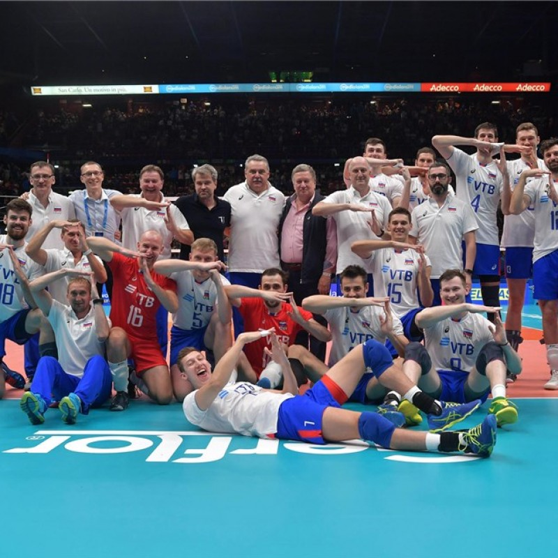 Official FIVB Volleyball Signed by the Russian National Volleyball Team