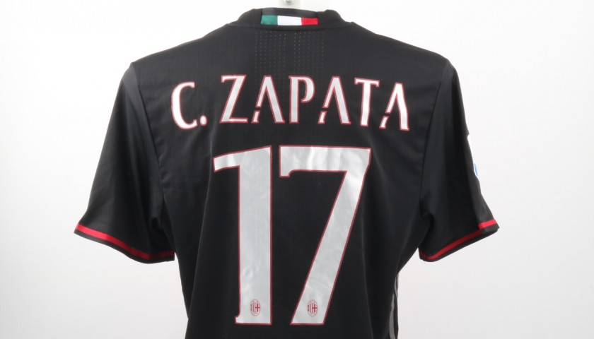Zapata Match Worn Shirt, Supercup Tim - Special Sewing