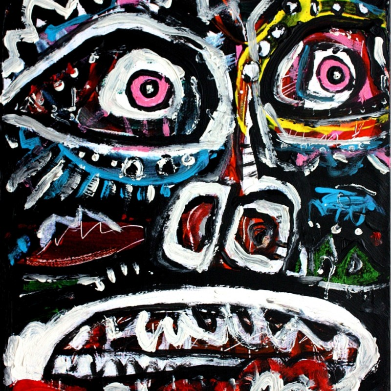 """""""Face totem #4"""" by The Man from the Future Urano"""