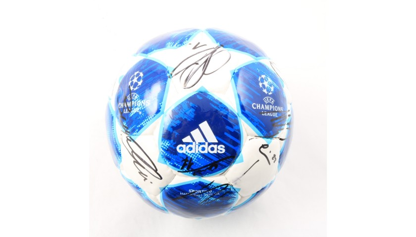 Official UCL 2018/19 Matchball - Signed by the Juventus Players