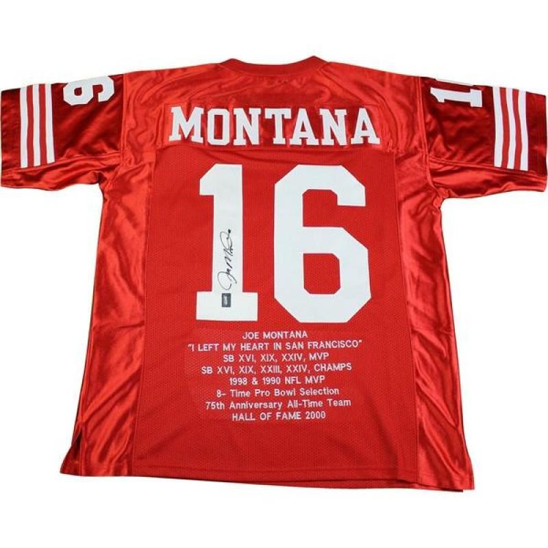 Joe Montana Hand Signed San Francisco 49ers Jersey