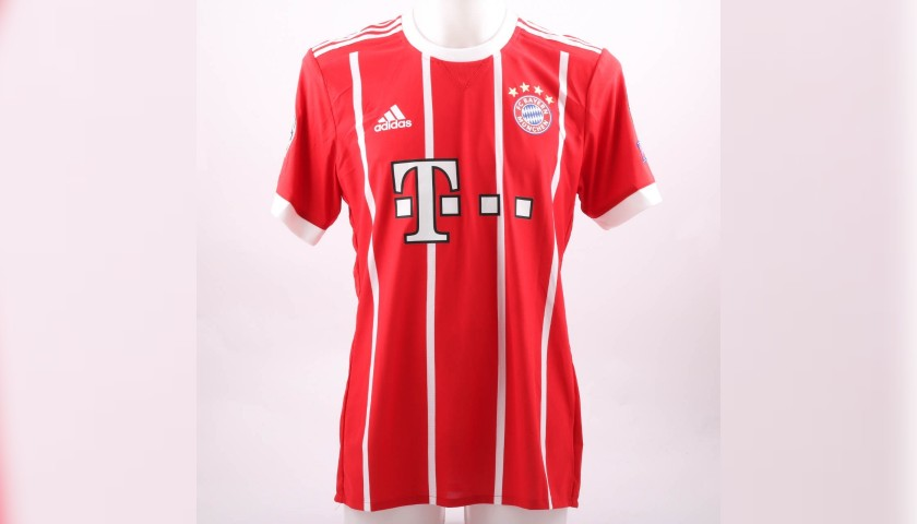 73a0e053 Kimmich's Bayern Munich Worn Shirt, UCL 2017/18 - CharityStars