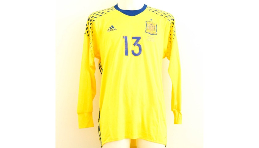 best service f67b0 4618b De Gea's Match-Issue/Worn Shirt, Italy-Spain2016 - CharityStars