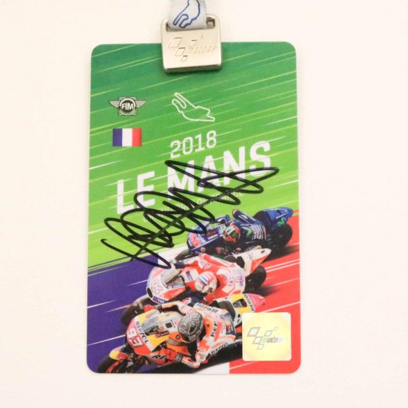 Le Mans 2018 Paddock Pass Signed by Valentino Rossi