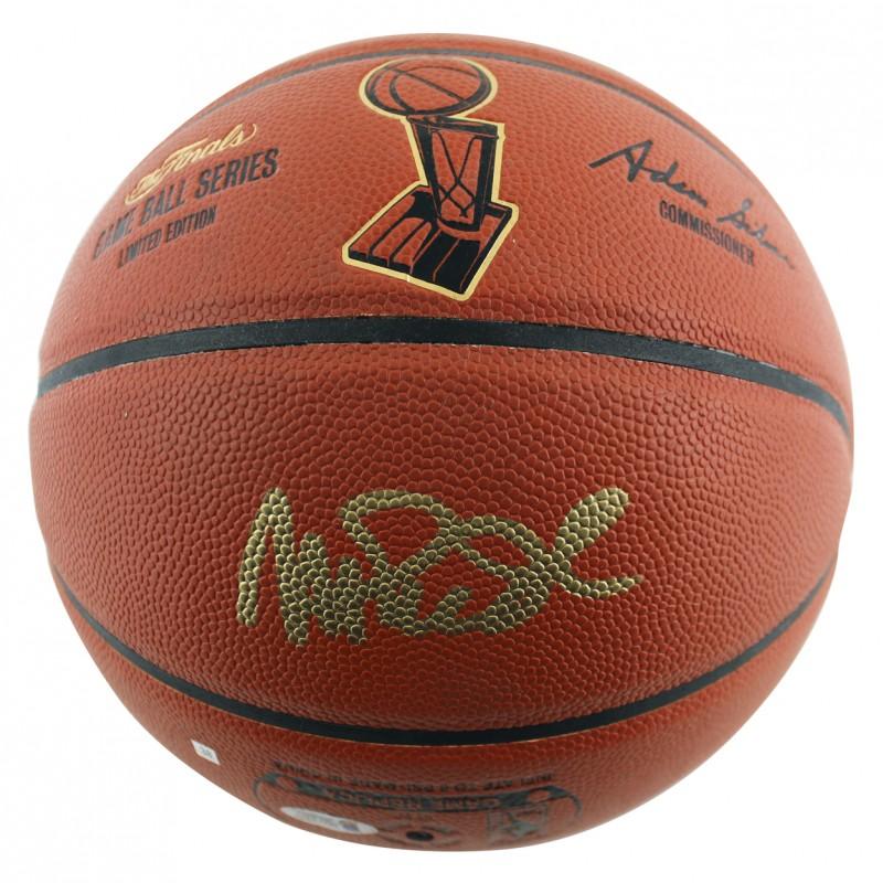 Magic Johnson Signed NBA Finals Basketball