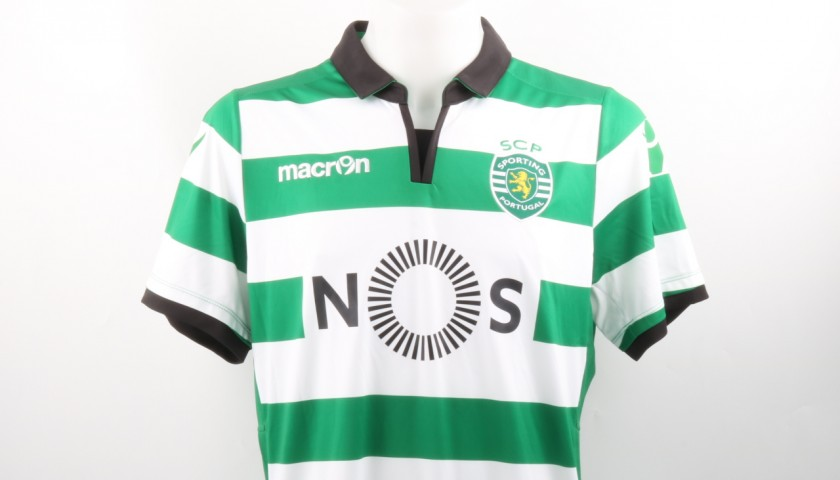 Semedo Official Sporting CP Shirt, 2016/17 - Signed