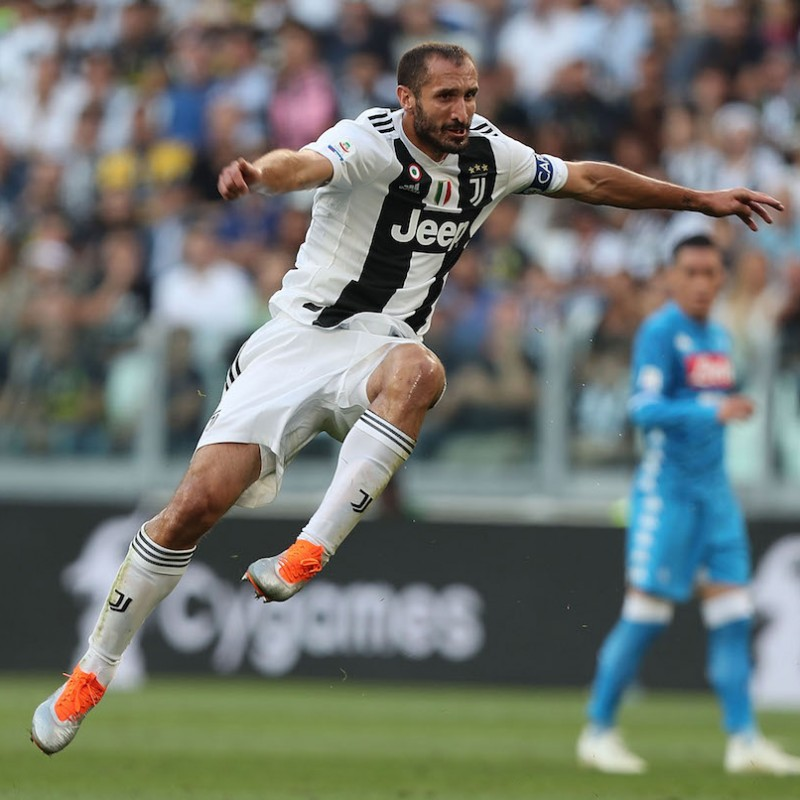 Chiellini's Match-Issue Puma One Signed Boots, 2018/19 Season