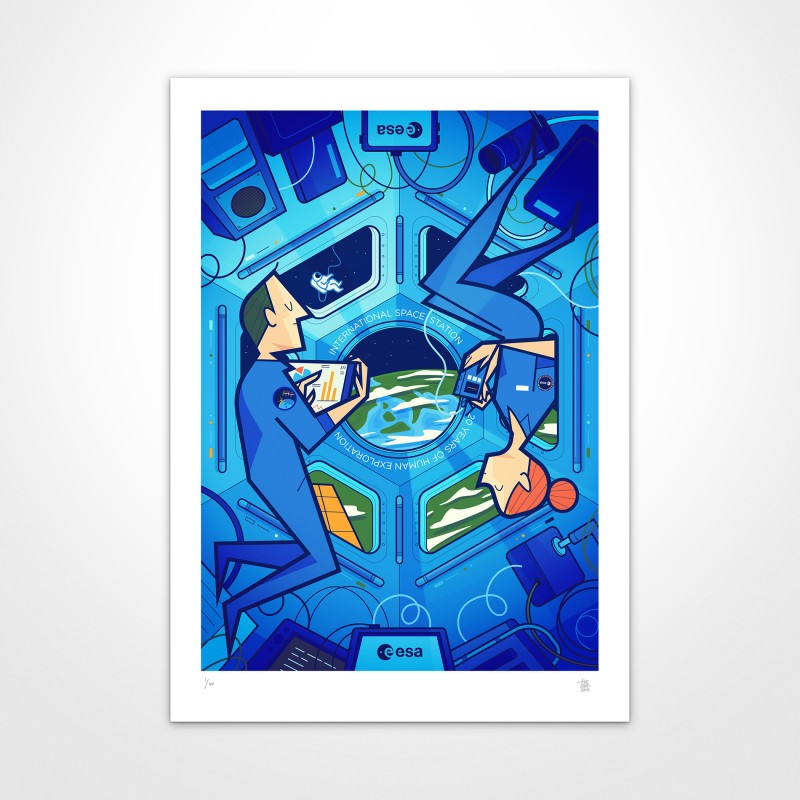 European Space Agency Limited Edition Poster by Ale Giorgini