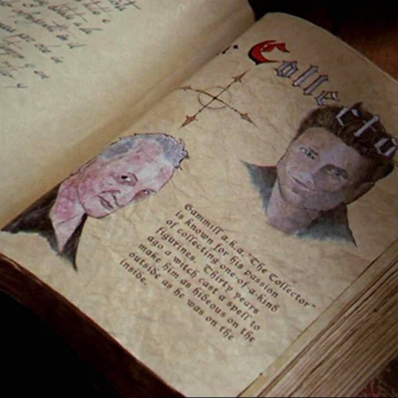 """Robert Englund - Rare Page from """"Book of Shadows"""" from """"Charmed"""" TV Series"""