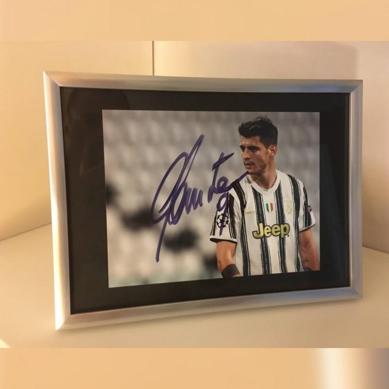 Alvaro Morata Signed Photograph