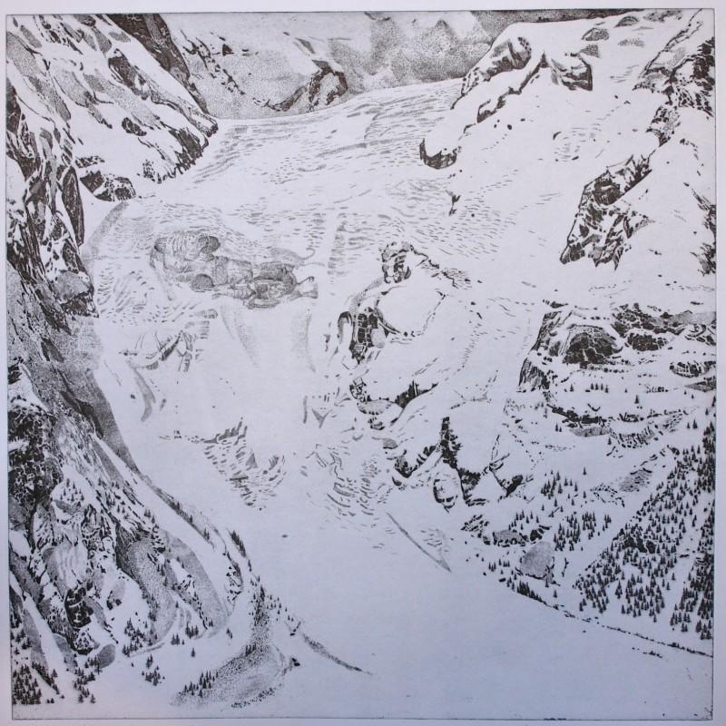 """""""Il ghiacciaio della Brenva"""" by Federica Galli"""