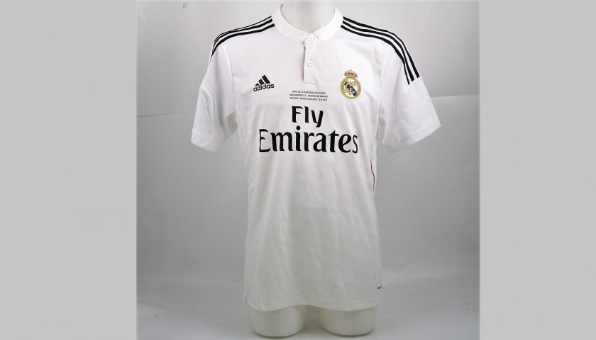 Benzema's Match-Issued Real Madrid Shirt, 2014 Super Cup