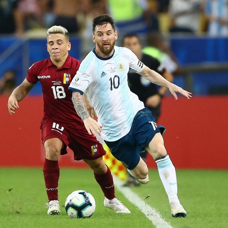 Messi's Signed Match Shirt, Venezuela-Argentina 2019