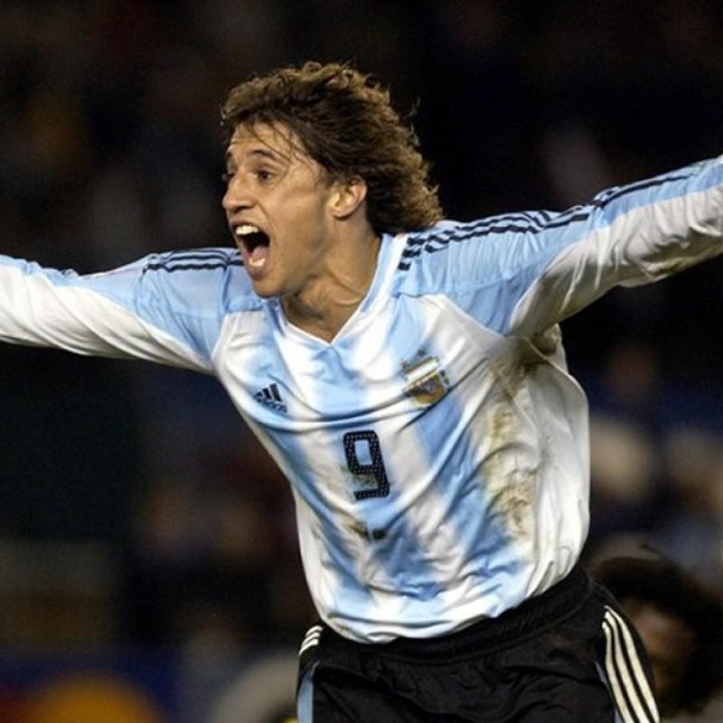 Crespo's Match Worn Shirt, Argentina-Brazil 2005