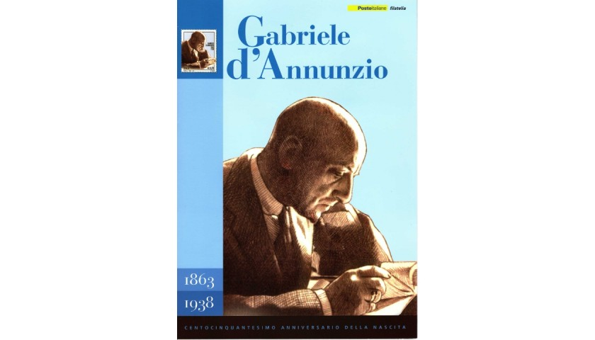 Official Stamp Folder - 150th Anniversary of the Birth of Gabriele d'Annunzio