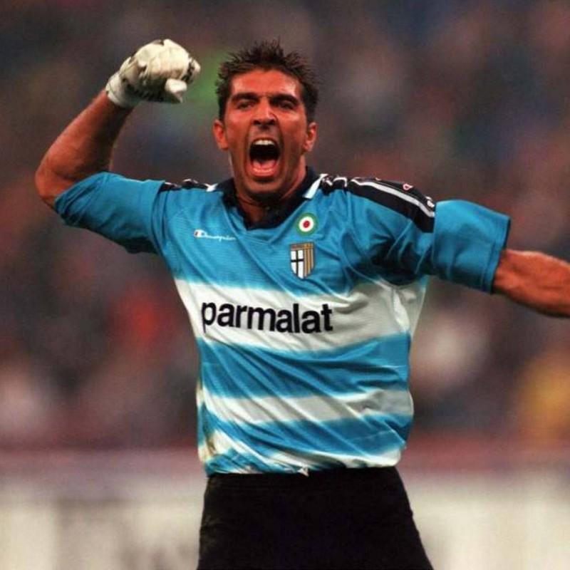 Buffon's Official Parma Signed Shirt, 1999/00