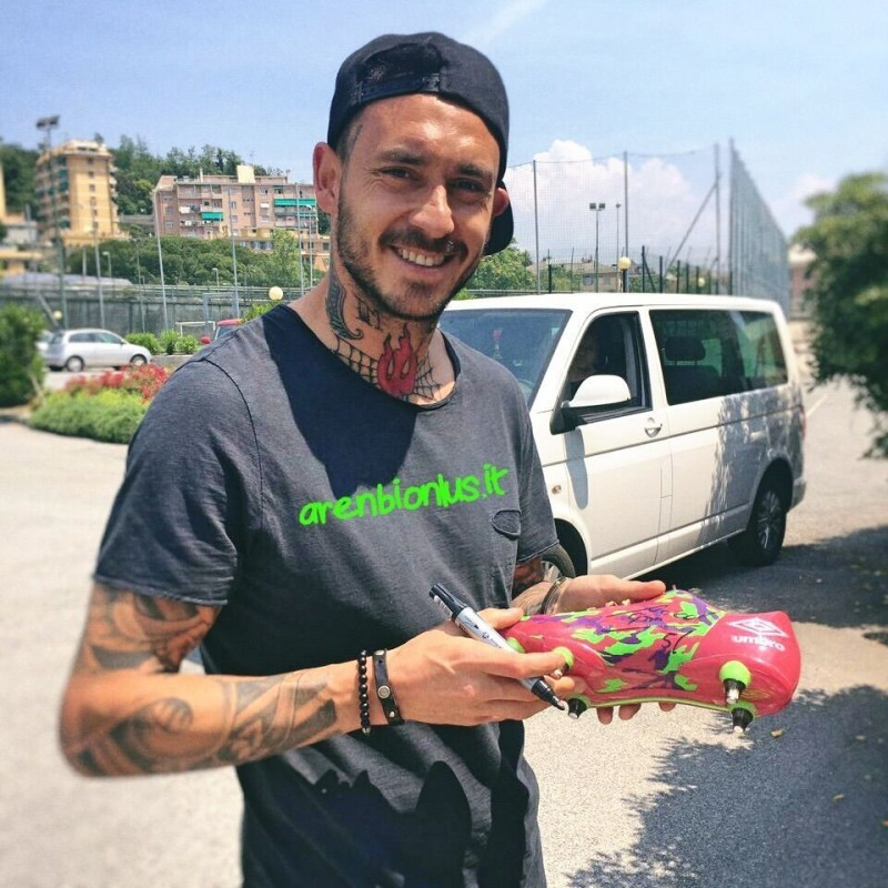 Pinilla's Umbro Cleats, Issued for the 2014 World Cup - Signed