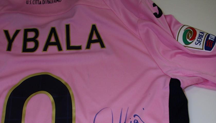 newest 3a694 b58bf 2014/15 Palermo match worn shirt signed by Dybala - CharityStars