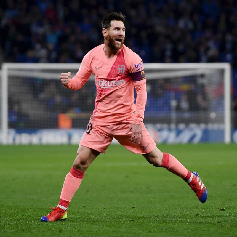Messi's Barcelona Match Shirt, Liga 2018/19