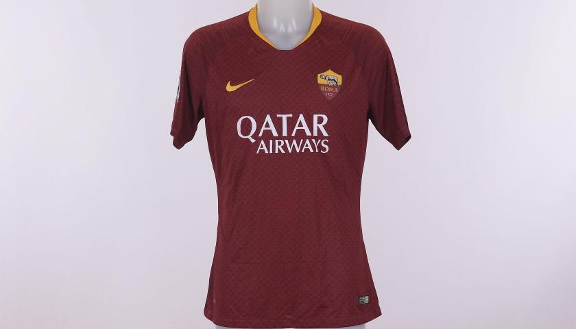 Cristante's Match-Issue Shirt, Roma-CSKA CL 18/19