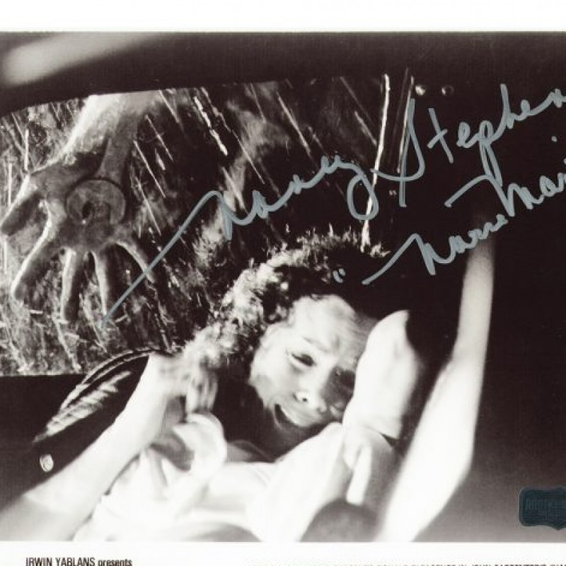"Nancy Stevens Signed Halloween Photo - Car Scene with ""Nurse Marion"" Inscription"