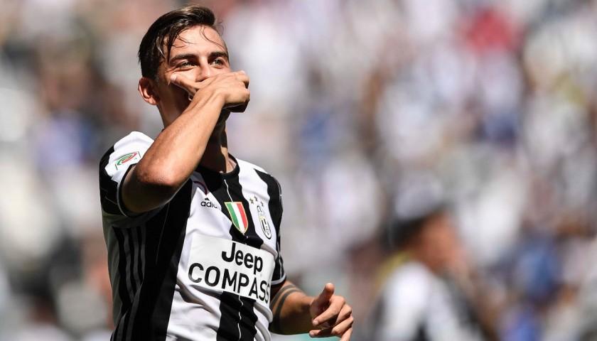 Dybala's Match-Worn Autographed Shirt, Juventus-Crotone 2017