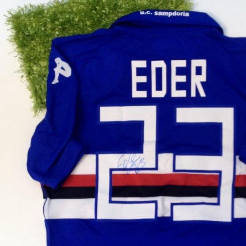 Sampdoria match issued/worn shirt, Eder, 2013/2014 - signed