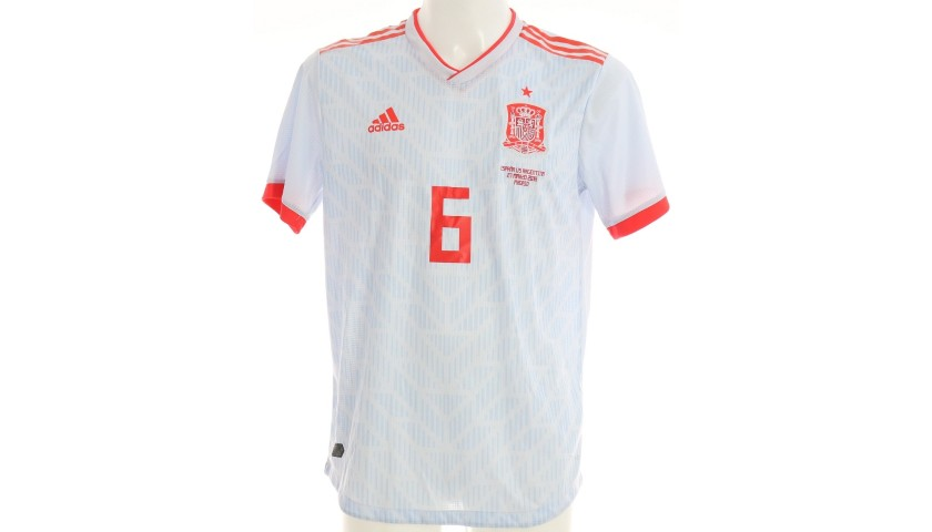 Iniesta's Match Shirt, Spain-Argentina 2018