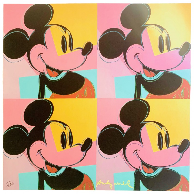 Andy Warhol Mickey Mouse - Numbered Lithograph